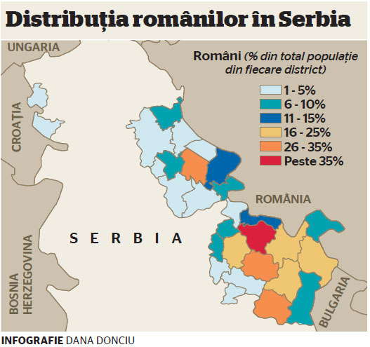 Image result for harta romanii din serbia