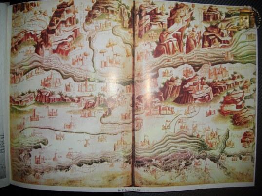 """Cea mai veche atestare a Țărilor Române. Apar menționate """"Prinzipo della Vlachia""""(Începutul Valahiei), apoi Valchia prin zona Curții de Argeș-Târgoviște, dincolo de Carpați - Vlachia transiuana, apoi Vlachia în sudul Moldovei și Valchia la nord de gurile Dunării"""