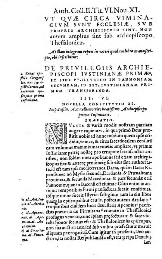 Novellae Constitutiones (Iustiniana Prima)