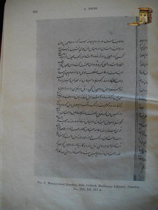 Gardizi, Podoaba istoriilor (Zayn al-Akhbar)