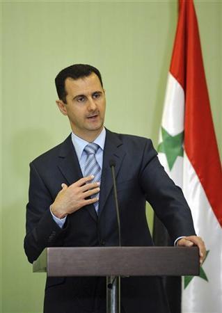 Bashar Al-Assad الاسد يدعو العرب الى قطع كل الروابط مع اسرائيل