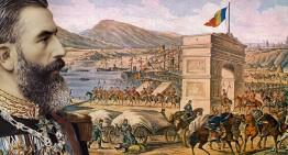 7 septembrie 1877. Stindardul luat de armata română turcilor de la Plevna a defilat în București