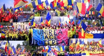 """Video: """"Marșul Unirii"""" la Chișinău pentru a marca cei 99 de ani la Marea Unire"""