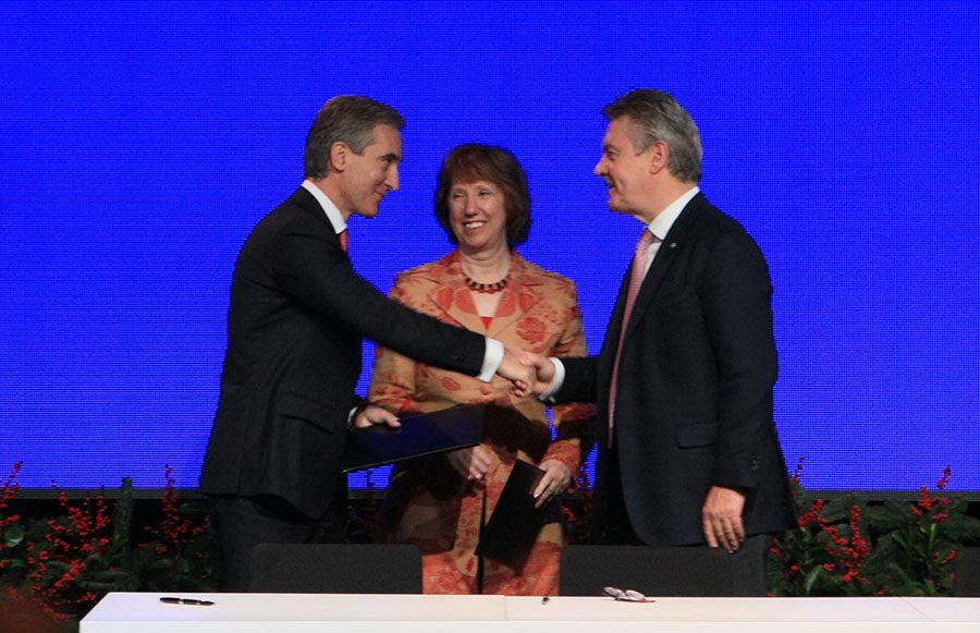 Moldova a parafat acordul cu UE