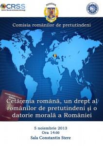 Cetățenia română, un drept al românilor de pretutindeni și o datorie morală a României