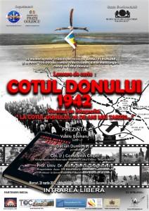 """Afisul lansării de la Bucuresti a primei ediții a """"Cotul Donului 1942"""""""