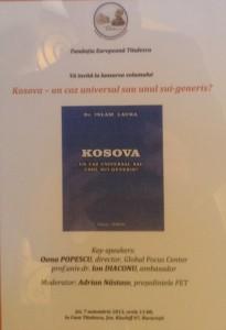 "INVITATIE LANSARE ""KOSOVA"""