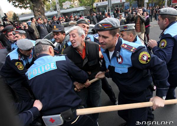 Revolte in Armenia