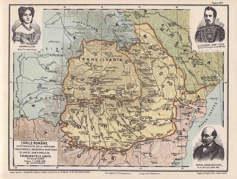 """""""Dacia lui Cuza"""" - Principatele Unite în vremea lui Alexandru Iona Cuza I"""