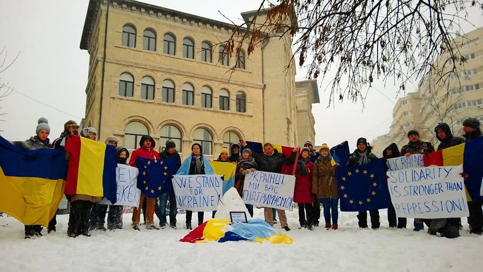 Bucuresti solidar cu Ucrainenii