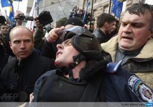 violente in Ucraina