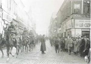 Armata a IX-a Germană intrând în București pe 6 decembrie 1916
