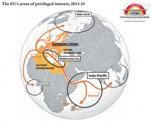 Zonele de interes ale Uniunii Europene