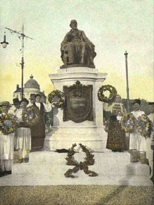 Monumentul lui C.A. Rosetti - vedere de epocă