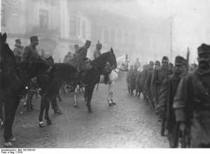 Trupe germane in Bucuresti - 1916