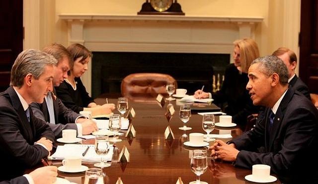 Iurie Leanca si Barak Obamna