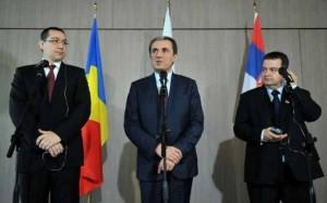 Premierii român, bulgar și sârb