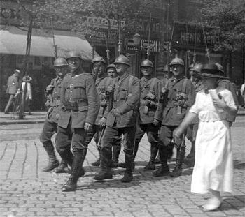 patrula-romana-in-budapeste-1919