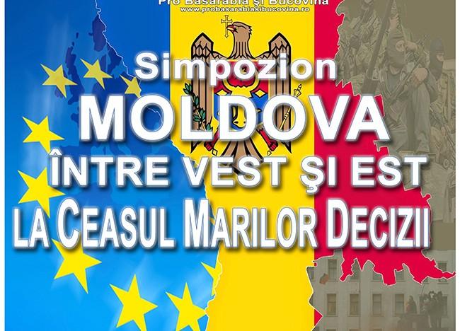"""Simpozion """"Moldova între Vest și Est – La Ceasul Marilor Decizii"""" (Chișinău 17 octombrie 2014)"""