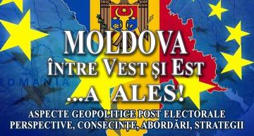 """Transmisie Live – """"Moldova între Vest și Est …a ALES!"""" Conferință la București despre dimensiunea geopolitică post electorală în R. Moldova"""