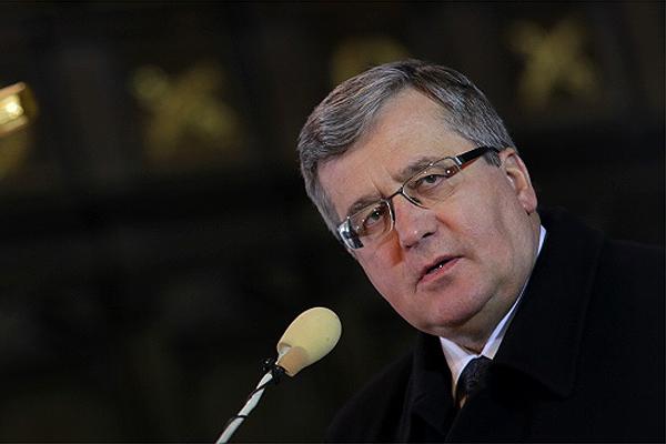"""Președintele Poloniei, Komorowski: """"Rusia nu are șanse de câștig într-un război cu Occidentul"""""""