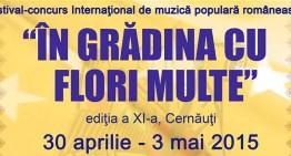 """""""În grădina cu flori multe"""" – o nouă ediție a festivalului de muzică populară românească la Cernăuți"""