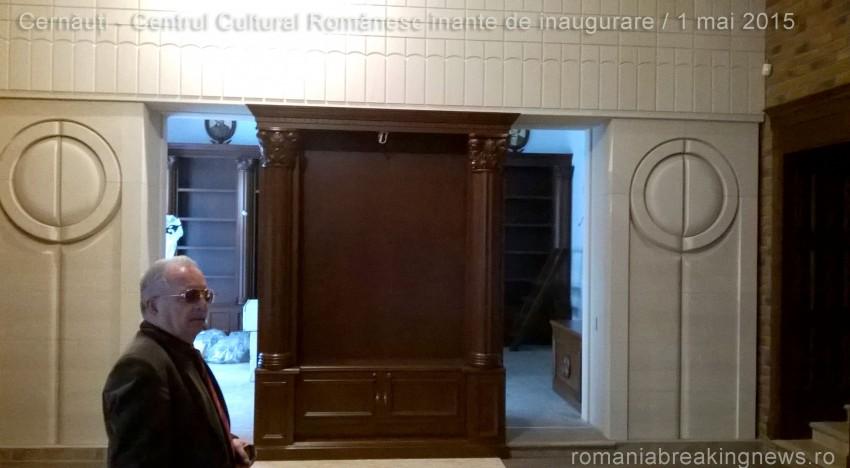 Exclusiv! Imagini în premieră din interiorul Centrului Cultural Românesc care va fi inaugurat la Cernăuți de către românii din Ucraina