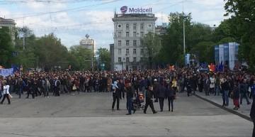 Video: Proteste la Chișinău în urma demiterii Guvernului condus de Maia Sandu prin moţiune de cenzură