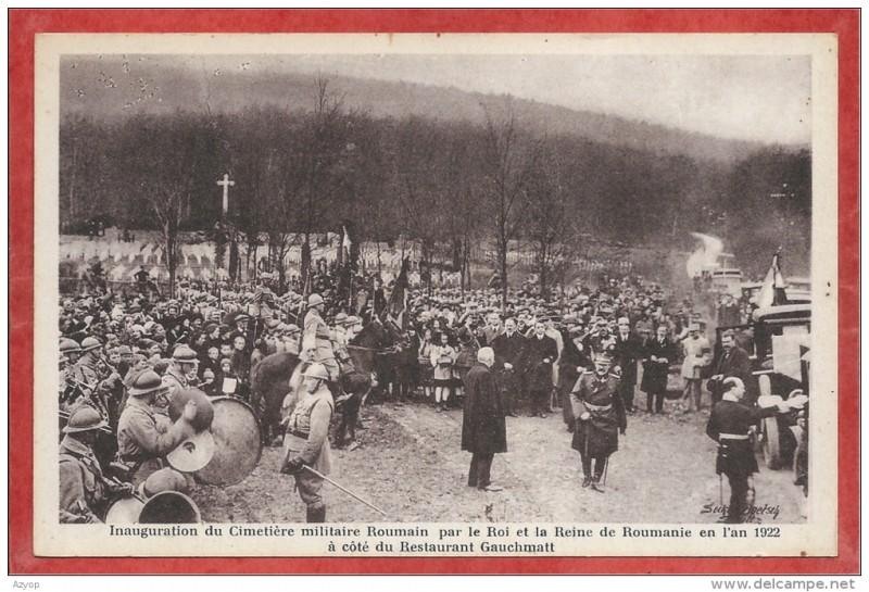 INaugurarea cimitirului militar român de la Soultzmatt 1922