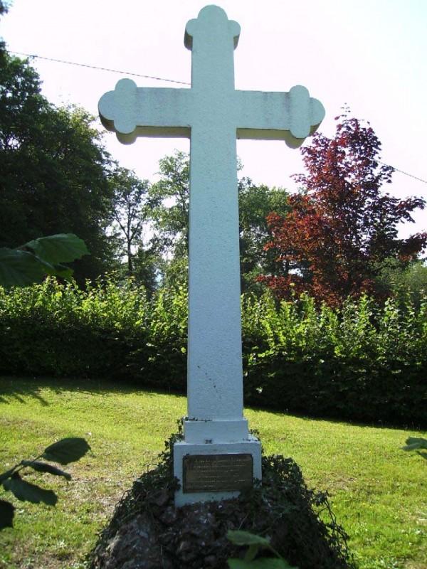În acest mormânt comun se odihnesc 71 de prizonieri de război români, toți necunoscuți & morți în chip tragic la Steinbrunn 1917