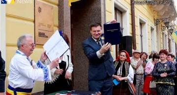 Foto-Video/Inaugurarea Centrului Cultural Român din Cernăuți. Realizare emblematică, a patrioților români, din regiunea Cernăuți – Ucraina