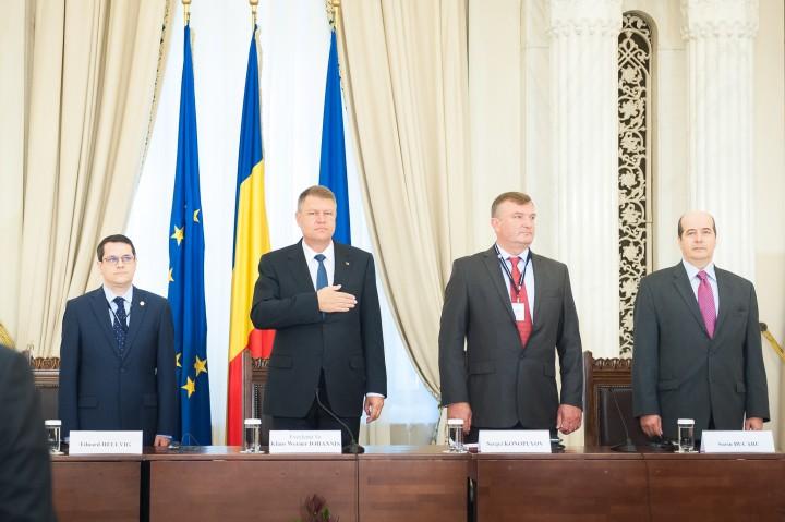 """Sala Unirii a Palatului Cotroceni - deschiderea oficială a programului de formare """"Securitate în Regiunea Mării Negre. Provocări comune, viitor sustenabil"""""""