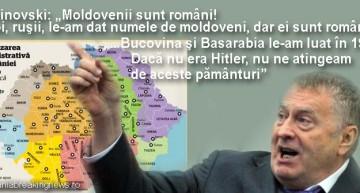 """Șoc și groază pentru """"maldavanii"""" pro-ruși! Jirinovski: """"moldovenii sunt români! Noi, rușii, le am dat numele de moldoveni, dar ei sunt români"""""""