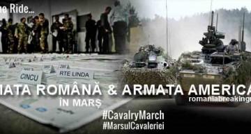 Exercițiu militar cu semnificație. Armata română și americană în marș prin Brașov spre Cincu