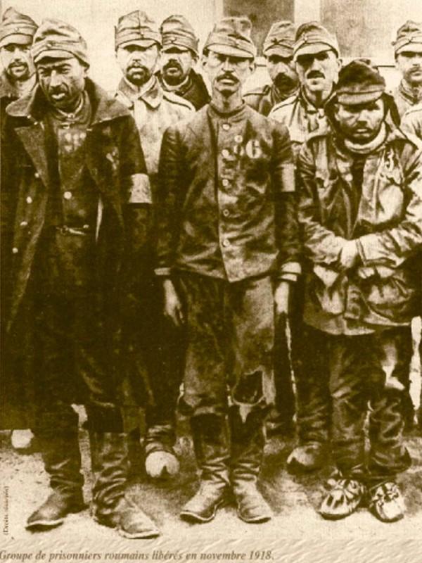 Un grup de prizonieri români eliberați în anul 1918 - Soultzmatt