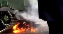 Imagini nedifuzate la TV Rusia. Incident la parada din 9 mai 2015 din orasul Cita