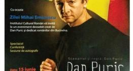 """Dan Puric vine cu """"Suflet Românesc"""" la românii din regiunea Cernăuți (Ucraina)"""