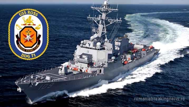 Un distrugător american și o fregată ucraineană se pregătesc să respingă atacuri aeriene în Marea Neagră