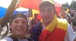 Video / Mesaj extrem de emoționant, al unui tânăr basarabean, de a chema la (re)Unirea cu România în PMAN Chișinău