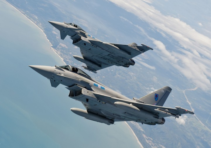 RAF 6 Squadron Eurofighter Typhoons on Exercise