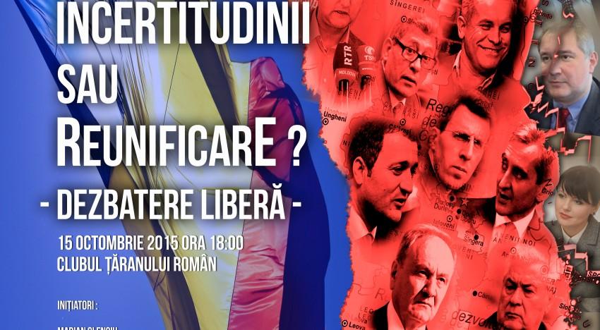 R. Moldova! Perpeturarea incertitudinilor sau reunificare ? Dezbatere liberă la Clubul Țăranului Român