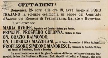 Arhivă foto. Anul 1918… Solidaritatea italenilor cu românii, pentru Marea Unire