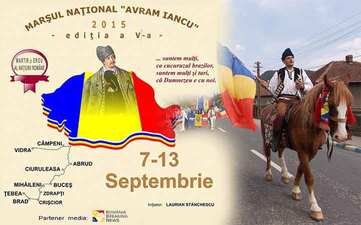 CINSTINDU-NE EROII, NE PĂSTRĂM DEMNITATEA NAȚIONALĂ! ROMÂNI, VENIȚI LA MARȘUL LUI AVRAM IANCU!