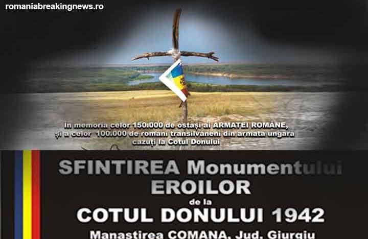 În ajunul sărbătoririi Zilei Armatei Române, Sfințirea Troiței – Monument pentru Eroii români căzuți la Cotul Donului în 1942
