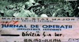 Exclusiv. DIVIZIA TRĂDATĂ   …un modest omagiu adus Diviziei 4 Infanterie română, aflată în ziua de 20 octombrie 1944 în capul de pod de la Szolnok, de pe Tisa și tradată de aliatul sovietic