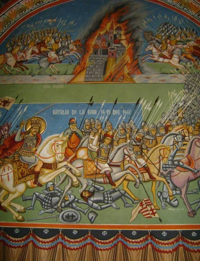 La ieșire din sat către Sasca Mică (nume care amintește de nemții pripășiți acolo), se ridică impunătoare, având crucile cimitirului în jur, Biserica Albă. Tradiția conferă lui Ștefan cel Mare ridicarea acestei biserici imediat după lupta de la Baia. I se spune albă fiindcă nu a fost pictată. Acum un veac era în pragul ruinei.