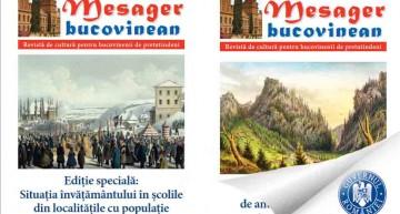 Despre drama limbii, culturii, istoriei și comunității românești din Ucraina în Mesager Bucovinean. Ediții noi cu sprijinul MAE DPRRP