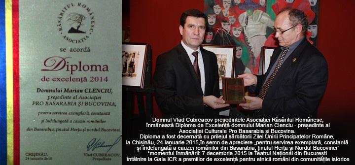 Vlad_Cubreacov_diploma_pt_Marian_Clenciu_As_Cult_Pro_Basarabia_si_Bucovina_
