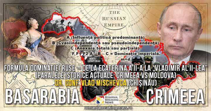 """Istoricul Vlad Mischevca, dezvăluiri despre """"Formula Dominației ruse"""" – de la Ecaterina a II-a la """"Vladimir al II-lea"""" / Paralele: Crimeea VS Moldova"""