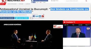 """VIDEO! MANIPULARE GROSOLANĂ SAU PROSTIE FĂRĂ MARGINI, LA REALITATEA TV??? (((Oficial ucrainean la București: """"…tindem ca frontierele cu România să fie refăcute"""")))"""